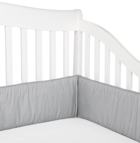 American Baby Company 100% Cotton Percale Crib Bumper, Gray
