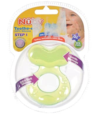 Nuby Teethe-eez Soft Silicone Teether with Bristles by Nuby