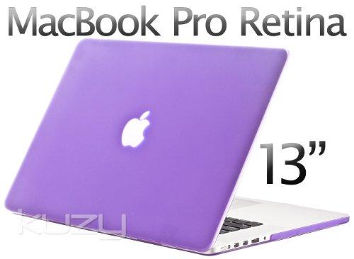 =>  Kuzy - Retina 13-Inch Light PURPLE Rubberized Hard Case for MacBook Pro 13.3