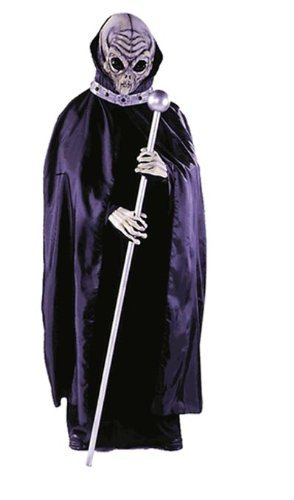 Costumes For All Occasions FW8523 Alien Mask W Cape