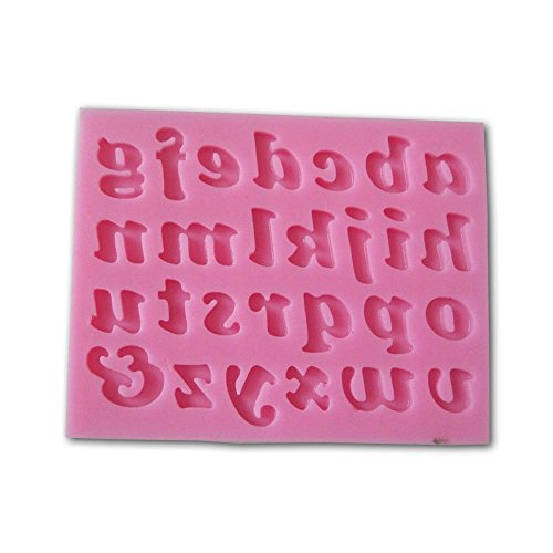 Allforhome Lower Case Letters Alphabet Shaped 3d Silicone Cake Fondant Mold Cake Topper Decoration Moulds