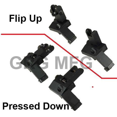 Why Should You Buy AR15 AR 15 Front and Rear flip up 45 Degree Rapid Transition BUIS Backup Iron Sig...