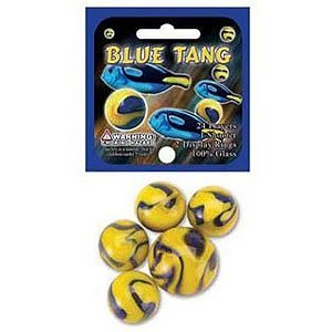 Glass Mega Marbles Tang Game Net Set (25 Piece), Blue - 1