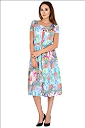 Selfiwear SW-656 Digital Printed Crepe Dress