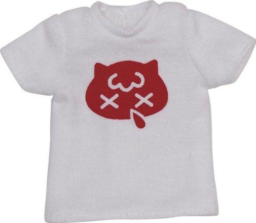 Snotty cat mini Tシャツ ホワイト×レッド