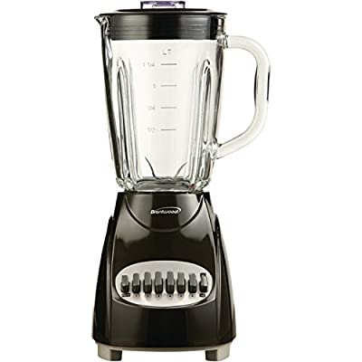 Brentwood JB-920B 12-Speed Countertop Blender with Glass Jar, Black from Petra (Drop Ship)