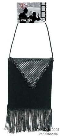 Ladies Black Flapper Costume Purse