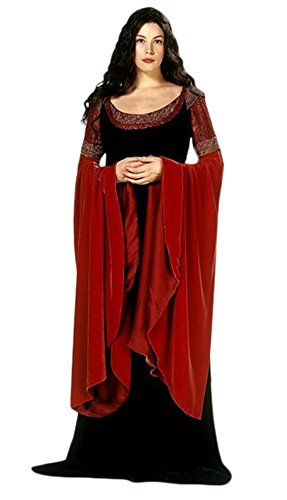 Women's Halloween Deluxe 1:1 Princess Arwen Costume Fancy Dress (XXXL) (Fancy Dress Xxxl)