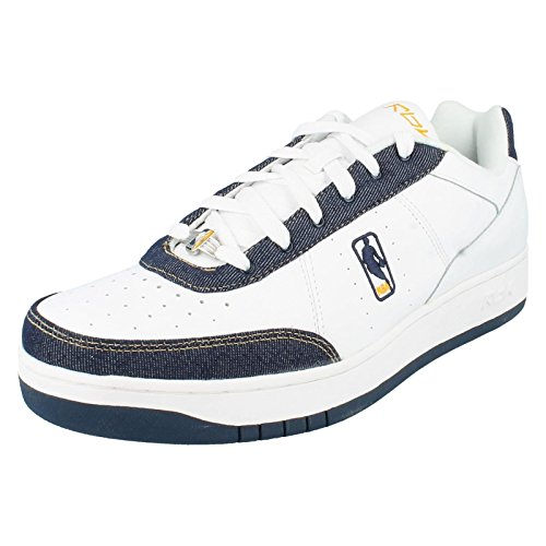 Reebok - Sandali con Zeppa uomo , multicolore (White/ Navy/ Denim/ Gold), 50