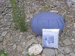 Meditation Cushion; Inflatable, Zafu; Blue (Medium)