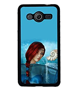 printtech Graphic Girl Underwater Back Case Cover for Samsung Galaxy Core i8262::Samsung Galaxy Core i8260