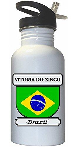 vitoria-do-xingu-brazil-city-white-stainless-steel-water-bottle-straw-top