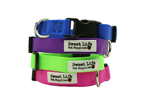 Sweet Life Pet Supplies Basic Nylon Adjustable Size Classic Utility Dog Collar Collar (Extra Small, Pink) (Extra Small Rasta Dog Collar compare prices)