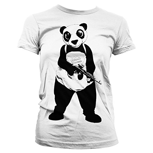 Officially Licensed Merchandise Suicide Squad Panda Girly Tee (White), Medium
