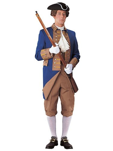 Mens Regency Collection Buff and Blue Soldier Costume M