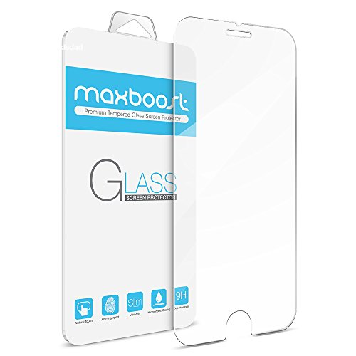 iPhone-6-Screen-Protector-Maxboost-Tempered-Glass-02mm-Ballistic-Glass-iPhone-6-Glass-Screen-Protectors-Work-with-iPhone-6-and-Protective-Case-Lifetime-Warranty