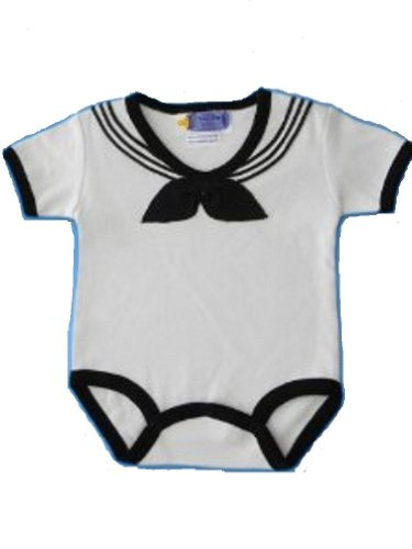 Baby / Infant U.S. Navy, White Sailor Bodysuit (0-3 Months) front-819920