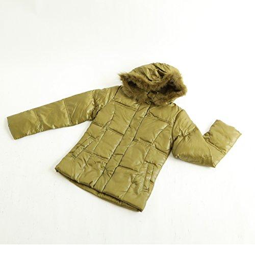 ETHIQUE-confection フード付きジャケット 緑 中綿入り
