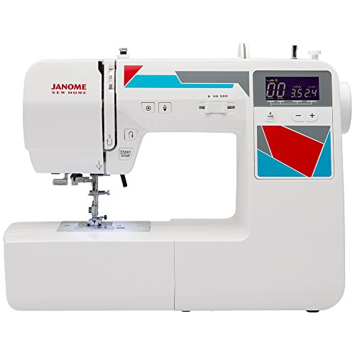 Janome MOD-100 Computerized Sewing Machine with 100 Built-In Stitches, 7 One-Step Buttonholes, Drop Feed and Accessories (Janome 100 Sewing Machine compare prices)