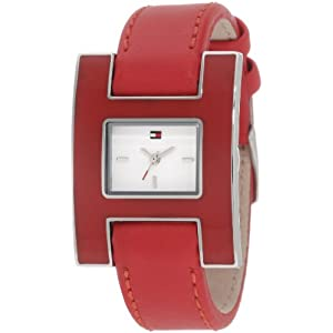 Tommy Hilfiger  Women's 1781156 Fashion Red Enamel and Stainless Steel  Watch