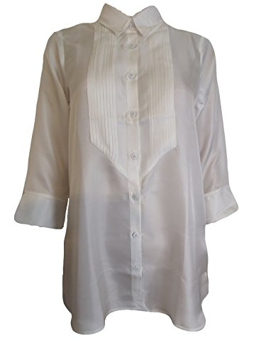 Womens Rowlands Luxury Pure Silk Ivory Blouse Shirt Blouse (14)