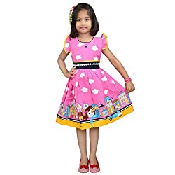 Hawai Pink Trendy Frock For Girl