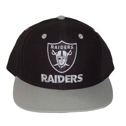 2 Tone Nfl Oakland Raiders Snapback Hat Cap - 2 Tone Black Grey