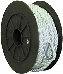Buccaneer Rope Co. White Twisted Nylon Anchor Line 3/8x100