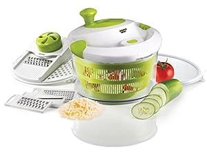 The Sharper Image® 5-in-1 Salad Spinner (5 Quart)