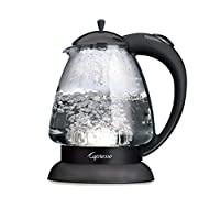 Capresso H2O Glass Water Kettle Black 48-Ounce