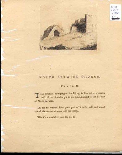 Stampa Del Nord Scozia dell'Oggetto D'antiquariato C1788 di Plt 2 della Chiesa di Berwich