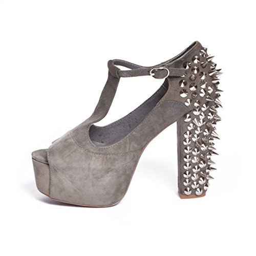 JEFFREY CAMPBELL - FOXY SPIKE SUEDE GREY, 38