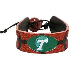 Buy NCAA Tulane Green Wave Classic Basketball Bracelet by GameWear