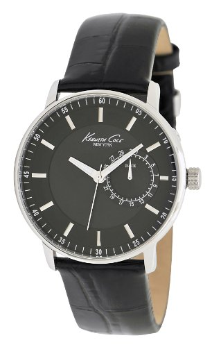 Kenneth Cole New York Men's KC1846 Classic Black Dial and Strap Sub-Second Watch