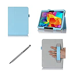 ProCase Folio Case with Stand for Samsung Galaxy Tab 4 10.1 Tablet ( 10 inch Galaxy Tab 4, SM-T530 / T531 / T535), with Auto Sleep/Wake feature, bonus stylus pen included (Blue)