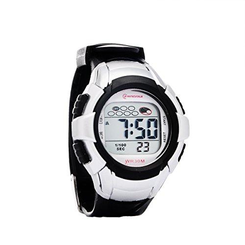 8Years- 1 Stueck Kinder Sport Digital Armbanduhr Stoppuhr Wasserdicht Schwarz