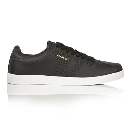 Gola Mens Amhurst Perforated Lace Up Trainer/Sneaker (10 US) (Black/Gold)