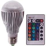 E27 10W LED RGB Magic Lamp Light Bulb Color Changing Spotlight + Remote Control