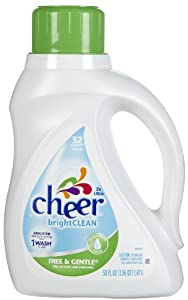Cheer 2x Concentrated Liquid-Free & Gentle-50oz-32 Loads