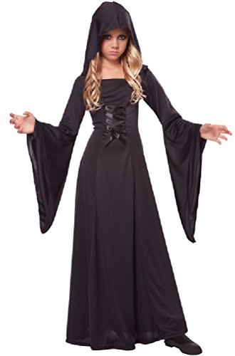 [8eighteen Deluxe Gothic Vampire Hooded Sorceress Robe Girls Child Costume] (Womens Deluxe Hooded Robe Costumes)