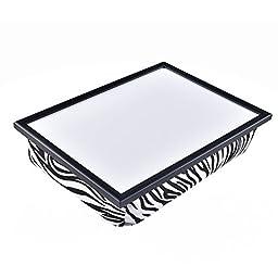 WELLAND Lap Desk Laptop Cushion Tray, Zebra