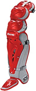 Mizuno Samurai G2 Shin Guards, Red/Grey, 15-Inch