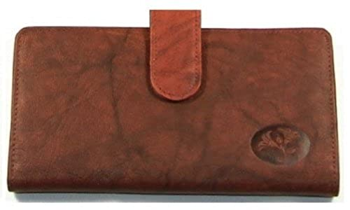 08. Buxton Womens Leather Slim Floral EmbossedCheckbook Cover Wallet