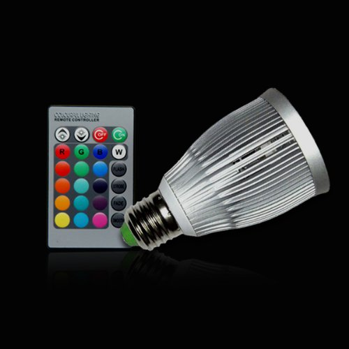 Color Changing 7W E27 Rgb Led Spot Light Spotlight Bulb Lamp 16 Colors With Remote Controller