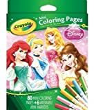 Crayola Coloring Pages Mini, Disney Princess 80 CT (Pack of 4)