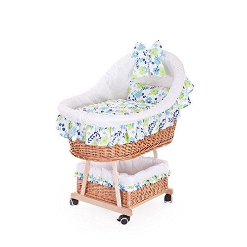Kinderwagen aus Weide, Kinderwagen mit einem Halbdach, Rollkinderkorb mit Baby – Zubehör günstig bestellen