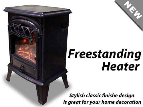 New Diva Tranquility Freestanding Log Flame Electric Fireplace Space Heater image B00HGJM0I8.jpg