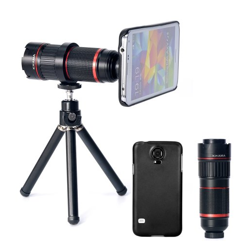 Ivapo 4-12X Zoom Optical Magnification Micro Telephoto Telescope Camera Lens Tripod For Samsung Galaxy S5 (Galaxy S5)
