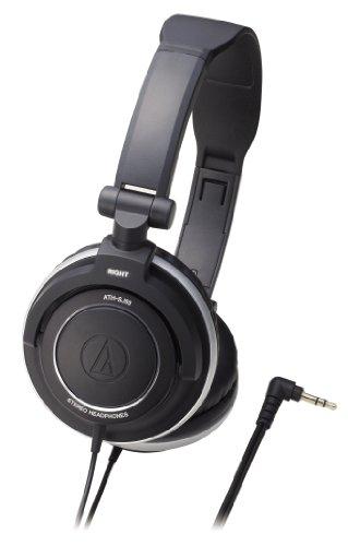 【Amazonの商品情報へ】audio-technica ポータブルヘッドホン ATH-SJ55 BK