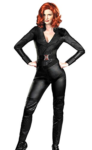 JWUP Women's The Avengers Black Hallowen Cosplay Costumes for Adult